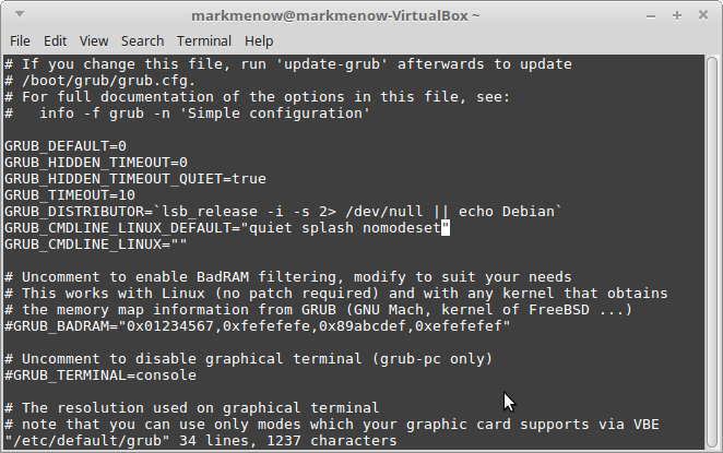 Linux Kernel Edit Default Grub Linux Boot Parameters
