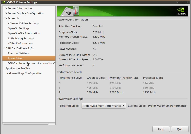 Linux Mint/Ubuntu/Debian Nvidia driver becomes slow graphics